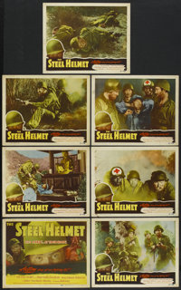 "The Steel Helmet (Lippert, 1951). Title Lobby Card and Lobby Cards (6) (11"" X 14""). War.... (Total: 7 Items)"