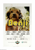 "Movie Posters:Adventure, Benji (Mulberry Square Releasing, 1974). One Sheet (27"" X 41""). Thefirst in the series of films told from a dog's point of ..."