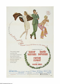 "Cactus Flower (Columbia, 1969). One Sheet (27"" X 41""). Dentist Walter Matthau is lying to his girlfriend Toni..."