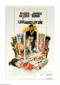 "Movie Posters:Action, Live and Let Die (United Artists, 1973). One Sheet (27"" X 41""). Roger Moore took over the role of British agent James Bond w..."