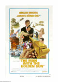 "Movie Posters:Action, The Man With the Golden Gun (United Artists, 1974). One Sheet (27""X 41""). Roger Moore inherited the role of James Bond when..."