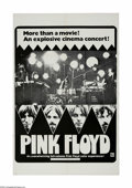 "Movie Posters:Rock and Roll, Pink Floyd (April Fools Productions, 1972). One Sheet (27"" X 41"").Pink Floyd (David Gilmour, Nick Mason, Roger Waters and R..."