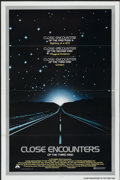 "Movie Posters:Science Fiction, Close Encounters of the Third Kind (Columbia, 1977). One Sheet (27""X 41"") Tri-Folded. Science Fiction...."
