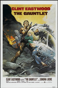 """The Gauntlet (Warner Brothers, 1977). One Sheet (27"""" X 41"""") Tri-Folded. Action"""