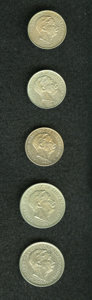 Luxembourg, Luxembourg: Grand Duke Adolphe - 1901 Patterns and Specimens,...(Total: 5 coins)