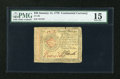 Colonial Notes:Continental Congress Issues, Continental Currency January 14, 1779 $20 PMG Choice Fine 15....