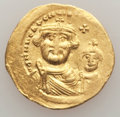 Ancients:Byzantine, Ancients: Heraclius (AD 610-641) and Heraclius Constantine.AVsolidus (4.35 gm).XF, clipped....