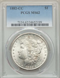 1882-CC $1 MS62 PCGS. PCGS Population: (2872/29883). NGC Census: (1813/14915). CDN: $190 Whsle. Bid for problem-free NGC...