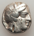 Ancients:Greek, Ancients: ATTICA. Athens. Ca. 440-404 BC. AR tetradrachm (16.98gm). Choice Fine, test cuts, bankers marks....