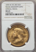 Expositions and Fairs, 1898 Trans-Mississippi Expo Official Medal, HK-283, MS65 NGC. ...