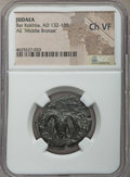 Ancients:Judaea, Ancients: JUDAEA. Bar Kochba (AD 132-135). AE 'middlebronze'. NGC Choice VF....
