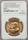 Expositions and Fairs, 1904 Louisiana Purchase Expo Official Souvenir Medal, HK-302, MS65NGC. ...