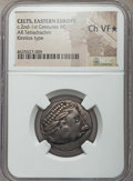 Ancients:Celtic, Ancients: DANUBE REGION. Uncertain tribe. Ca. 2nd-1st centuries BC.AR tetradrachm. NGC Choice VF ★ ....