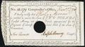 Colonial Notes, State of Connecticut Comptroller's Office 2 Pounds Dec. 1, 1790.. ...