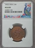 India:British India, India: British India. George VI 1/4 Anna NGC Certified Quintet,... (Total: 5 coins)