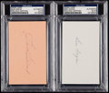 Autographs:Index Cards, Ben Hogan & Sam Snead Signed Index Cards, PSA/DNA Encapsulated.. ...