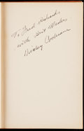 """Autographs:Others, 1939 Mickey Cochrane """"Baseball: The Fans' Game"""" Signed 1940 FirstEdition, Third Printing Hardcover Book.. ..."""