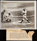Baseball Collectibles:Photos, Babe Ruth Vintage Photograph, Final Season With Yankees.. ...
