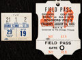 Football Collectibles:Tickets, 1935 Chicago Bears vs. College All-Stars Field Pass and Ticket Stub from the Joe Carr Find.. ...