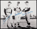 Autographs:Photos, Williams, Musial, and Mantle Multi-Signed Photograph. . ...