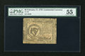 Colonial Notes:Continental Congress Issues, Continental Currency February 17, 1776 $8 PMG About Uncirculated55....
