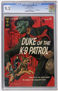 Silver Age (1956-1969):Mystery, Duke, of the K-9 Patrol #1 (Gold Key, 1963) CGC NM- 9.2 Off-whiteto white pages....