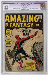 Amazing Fantasy #15 (Marvel, 1962) CGC Apparent GD+ 2.5 Slight (A) Off-white pages