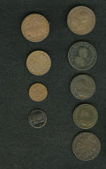 Luxembourg, Luxembourg: A mixed copper lot as follows:... (Total: 9 coins)