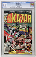 Bronze Age (1970-1979):Adventure, Ka-Zar #18 (Marvel, 1976) CGC NM+ 9.6 Off-white to white pages....