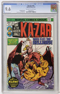 Bronze Age (1970-1979):Miscellaneous, Ka-Zar #15 (Marvel, 1976) CGC NM+ 9.6 Off-white to white pages....
