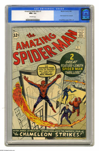 The Amazing Spider-Man #1 (Marvel, 1963) CGC NM+ 9.6 Off-white pages. Now that The Amazing Spider-Man is the most collec...