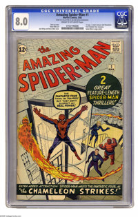 The Amazing Spider-Man #1 (Marvel, 1963) CGC VF 8.0 Cream to off-white pages. The club of Amazing Spider-Man collectors...