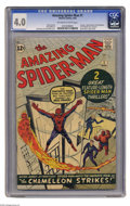 Silver Age (1956-1969):Superhero, The Amazing Spider-Man #1 (Marvel, 1963) CGC VG 4.0 Off-white towhite pages. First issue copies of Spider-Man come thro...