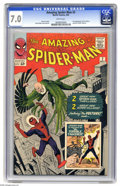 Silver Age (1956-1969):Superhero, The Amazing Spider-Man #2 (Marvel, 1963) CGC FN/VF 7.0 White pages. The Vulture made his first appearance in this issue! Fro...