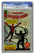 "Silver Age (1956-1969):Superhero, The Amazing Spider-Man #3 (Marvel, 1963) CGC NM- 9.2 Off-white pages. The movie ""Spider-Man 2"" certainly cemented the key st..."
