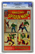 Silver Age (1956-1969):Superhero, The Amazing Spider-Man #4 (Marvel, 1963) CGC VF+ 8.5 Cream to off-white pages. As we finished up this catalog we hadn't yet ...