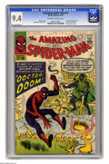 Silver Age (1956-1969):Superhero, The Amazing Spider-Man #5 (Marvel, 1963) CGC NM 9.4 Off-white to white pages. This book's white cover, its significance and ...