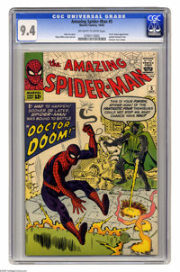 The Amazing Spider-Man #5 (Marvel, 1963) CGC NM 9.4 Off-white to white pages. This book's white cover, its significance...