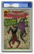 Silver Age (1956-1969):Superhero, The Amazing Spider-Man #6 (Marvel, 1963) CGC VF/NM 9.0 Off-white pages. Who was Spider-Man's scaliest foe on a scale of 1 to...