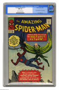 Silver Age (1956-1969):Superhero, The Amazing Spider-Man #7 (Marvel, 1963) CGC NM- 9.2 Cream tooff-white pages. The Vulture soared to his second appearance h...