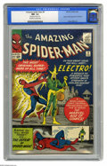 Silver Age (1956-1969):Superhero, The Amazing Spider-Man #9 (Marvel, 1964) CGC NM- 9.2 Off-white towhite pages. Spider-Man has to take on Electro in this iss...