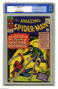 Silver Age (1956-1969):Superhero, The Amazing Spider-Man #11 (Marvel, 1964) CGC NM- 9.2 Cream tooff-white pages. This issue, the second appearance of Doctor ...