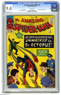 Silver Age (1956-1969):Superhero, The Amazing Spider-Man #12 Ohio pedigree (Marvel, 1964) CGC NM 9.4 White pages. Only three copies of this issue have been gr...
