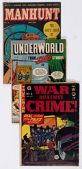 Golden Age (1938-1955):Miscellaneous, Comic Books - Assorted Golden Age Crime Comics Group of 19 (Various Publishers, 1948-52) Condition: Average GD.... (Total: 19 Comic Books)