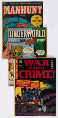 Comic Books - Assorted Golden Age Crime Comics Group of 19 (Various Publishers, 1948-52) Condition: Average GD.... (Tota...