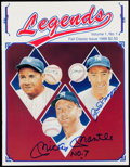 """Baseball Collectibles:Publications, Mickey Mantle """"No. 7"""" and Joe DiMaggio Signed """"Legends"""" Catalog.. ..."""