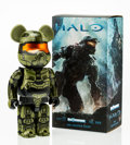 Fine Art - Sculpture, American:Contemporary (1950 to present), BE@RBRICK. Halo Master Chief 400%, 2014. Painted cast resin.10-1/2 x 5 x 2-1/2 inches (26.7 x 12.7 x 6.4 cm). Stamped o...