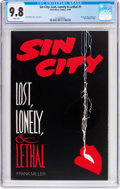 Modern Age (1980-Present):Miscellaneous, Sin City: Lost, Lonely, & Lethal #1 (Dark Horse, 1996) CGC NM/MT 9.8 White pages....