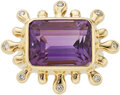 Estate Jewelry:Rings, Amethyst, Diamond, Gold Ring, Donald Huber The...