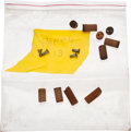 """Explorers:Space Exploration, Apollo Flown Panel Screws (Four) and Ablative Plugs (Five Complete) from the Estate of NASA Engineer Donald T. Hamilton, """"Pane..."""